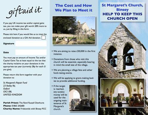 Church Fundraising Leaflet